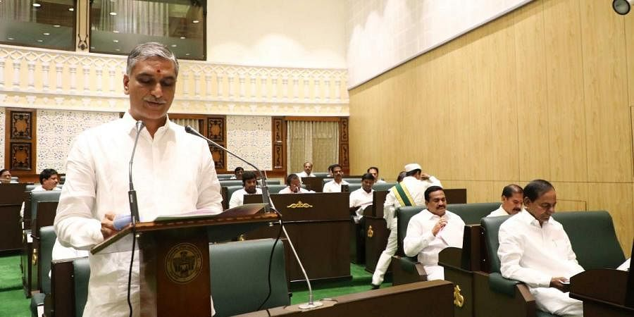 Telangana Finance Minister T Harish Rao presents the State Budget for FY 2020-21