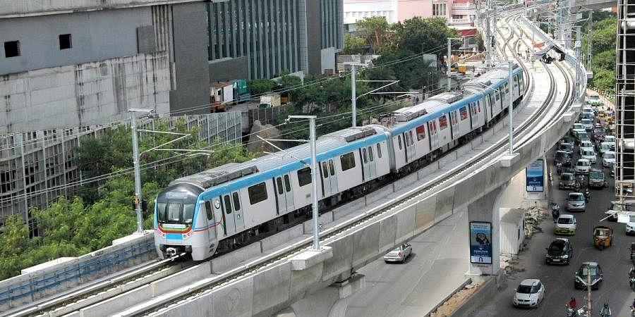 Hyderabad Metro Rail image used for representational purpose