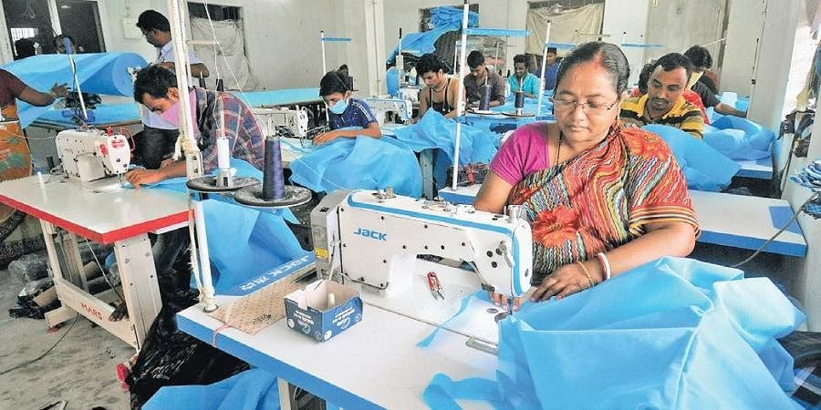 Work in progress: Tailors sew PPE kits