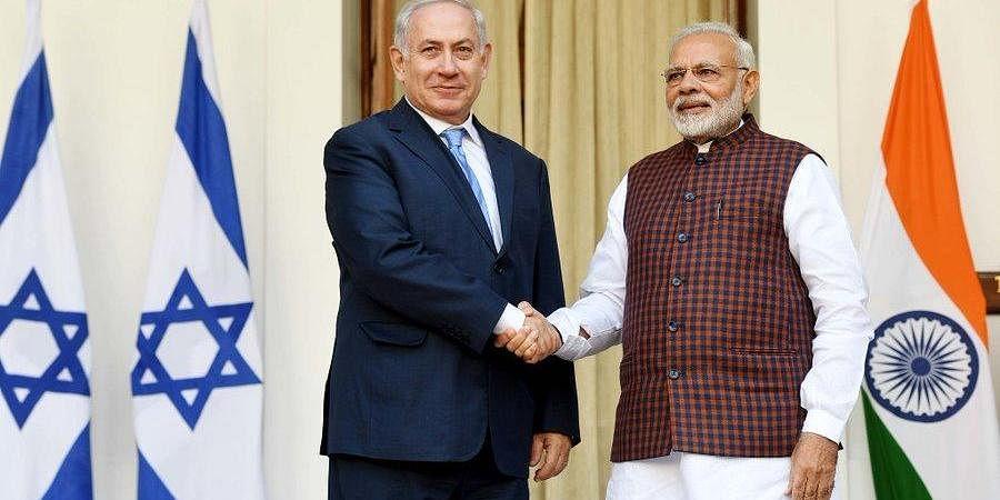 Israel PM Benjamin Netanyahu with PM Modi (Photo | PM of Israel, Twitter)