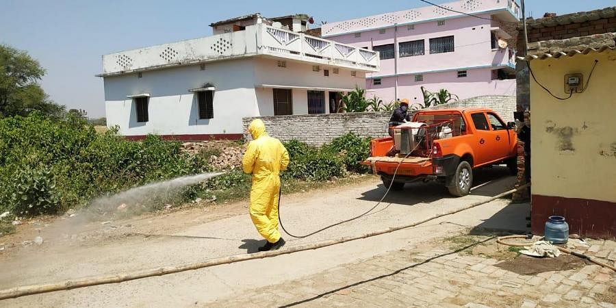 At present, NDRF rescuers are also engaged in area sanitization work using Sodium Hypochlorite chemical solution