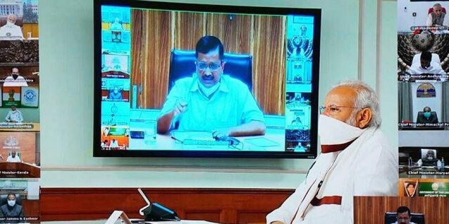 Chief Minister Arvind Kejriwal attended a video conference with PM Narendra Modi