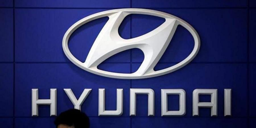 The logo of Hyundai Motor