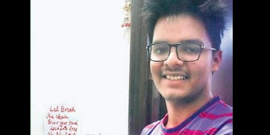 Class XI student Sarthak Jain who has developed a touch-free doorbell