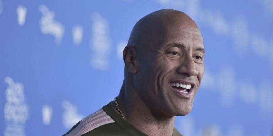 Hollywood actor Dwayne Johnson
