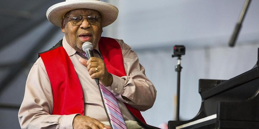 Ellis Marsalis during the New Orleans Jazz & Heritage Festival in New Orleans.