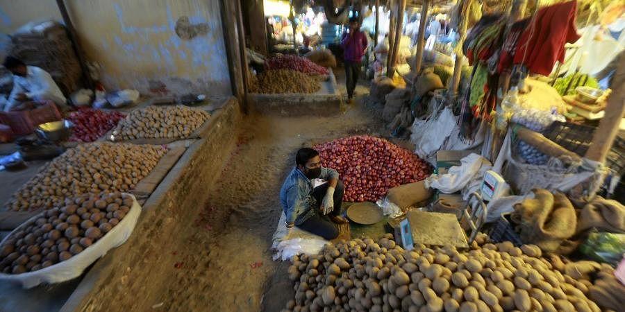 Potato, Vegetable market, Corona