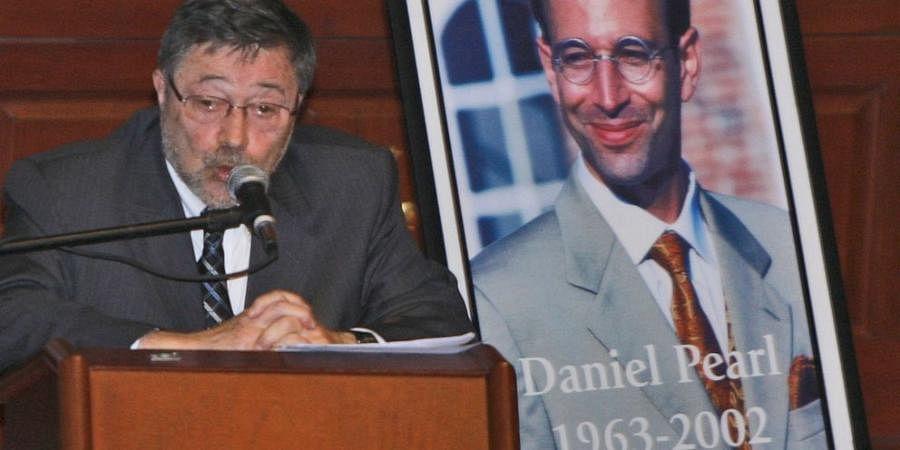 Dr. Judea Pearl, father of American journalist Daniel Pearl, who was killed in 2002, speaks in Miami Beach, Fla.