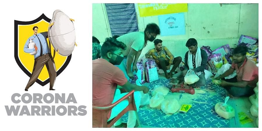 Residents of Lalbagh slum distributed ration to those who are more needy