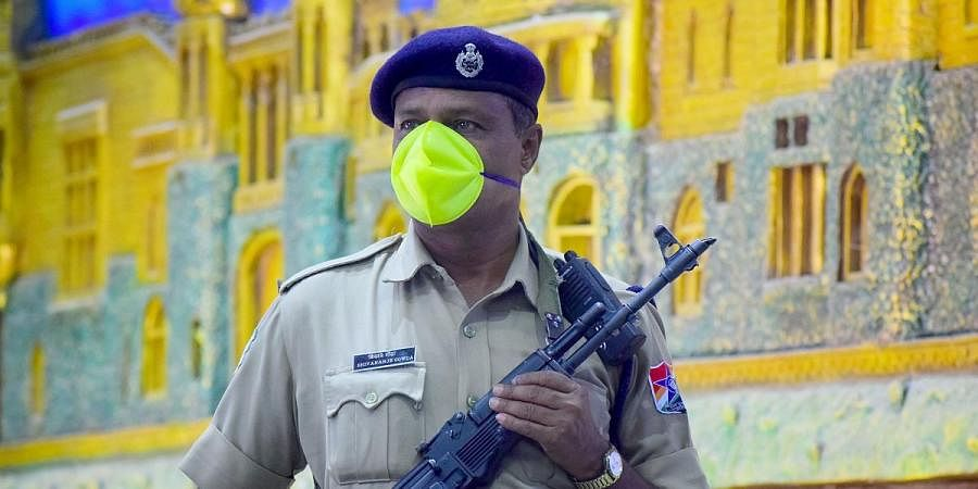 With the threat of coronavirus looming large, CISF personnel at Kempegowda Railway station are on high alert