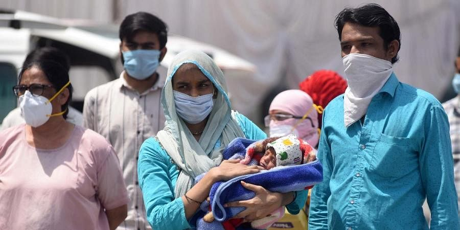 Twelve coronavirus patients were relieved from a hospital, in Indore on Sunday