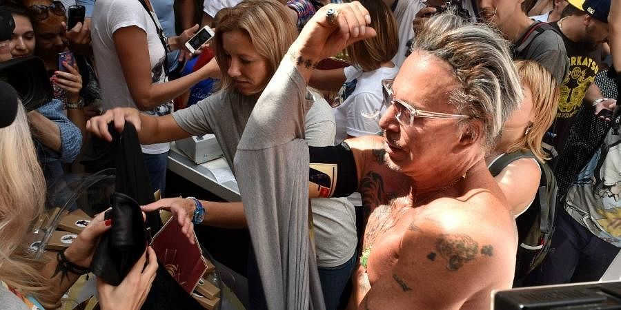 Hollywood actor Mickey Rourke