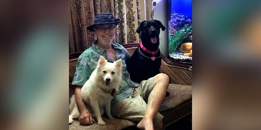 Terry John Converse also has canines Rani and Padmini at home for company