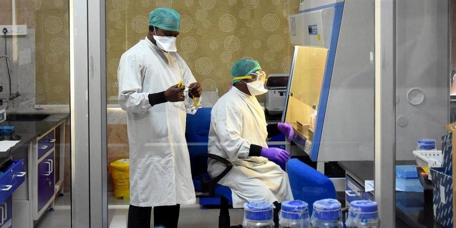 A laboratory set up for the diagnosis of coronavirus. (Photo|EPS/ Madhav K)