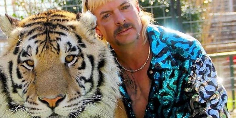 Joe Exotic with his tiger, Tiger king