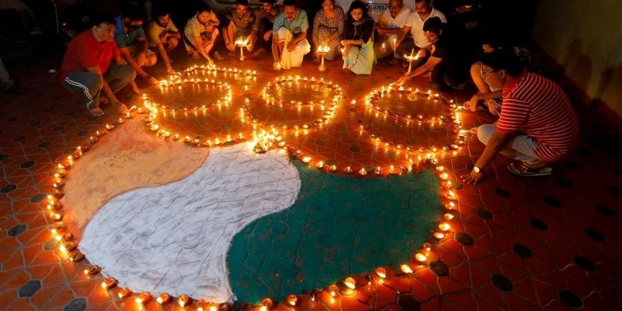 Residents of Kochi lighting lamps  at 9pm in show of solidarity and confidence in our collective fight against the novel coronavirus or Covid-19  on Sunday.