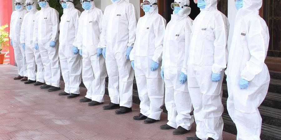 Coimbatore police have formed an 11-member quick response team which is provided with personal protective equipment to avoid direct contact with the patients.