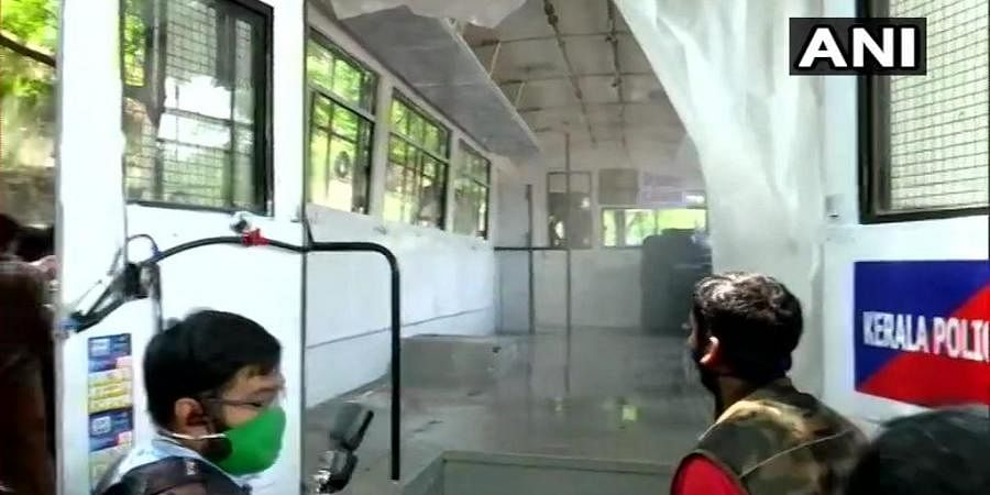 The bus has been turned into a mobile sanitization unit for the Kerala police.
