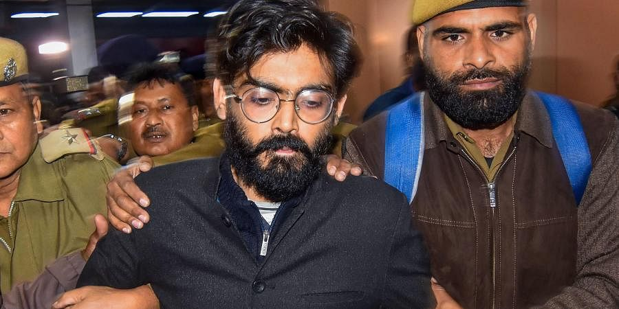 Imam former student of JNU being brought by Assam Crime Branch and Delhi police from Tihar Jail for his alleged controversial remark on North East States at Guwahati Railway station in Guwahati Thursday Feb. 20 2020.