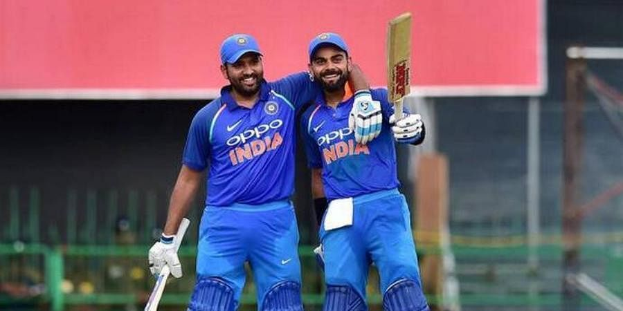 Indian cricketers Rohit Sharma and Virat Kohli