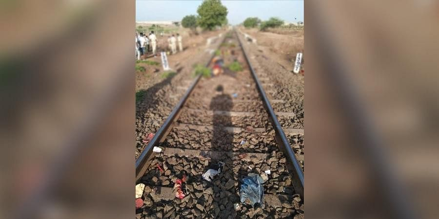 These migrants were resting at train track after walking a day from Jalna to Aurangabad