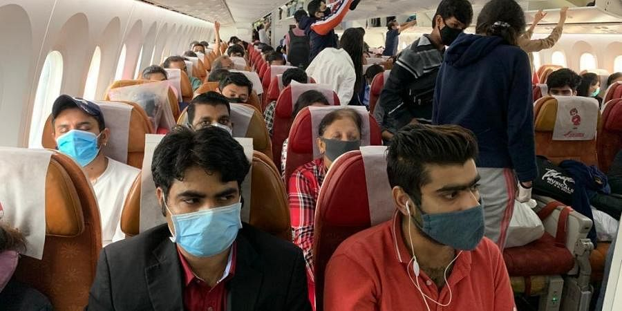 Operating under the government's massive Vande Bharat Mission, the flight left New Delhi at around 11:20 pm on Thursday.