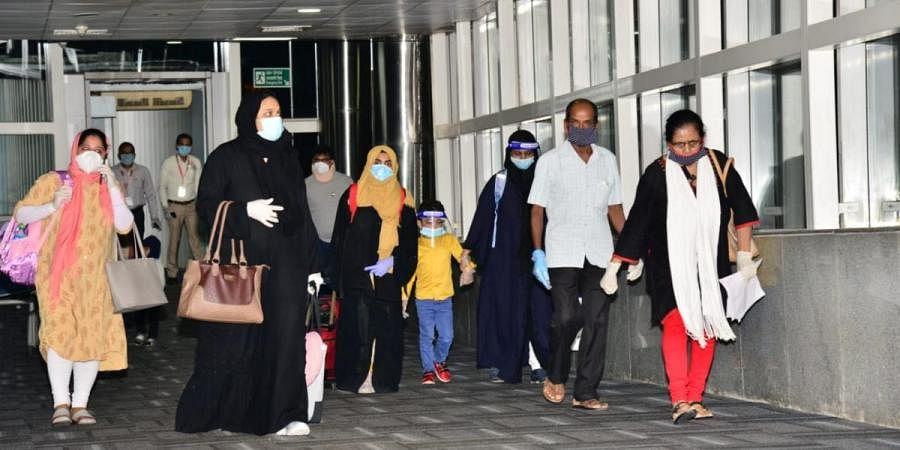 A repatriation flight from Dubai arrived in Mangaluru with 176 passengers on board