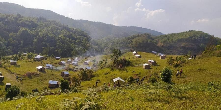 Villagers in Manipur's Tungjoy have set up 80 huts for COVID-19 quarantine