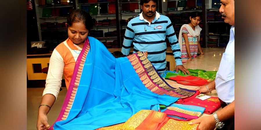 Sarees with mango design borders are quite popular
