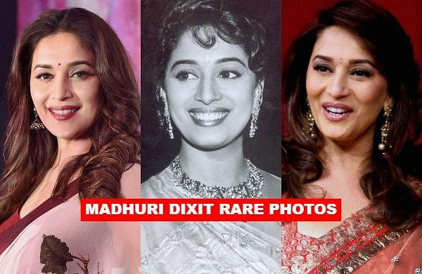 As Bollywood actress Madhuri Dixit turns a year older, let us take a look at some of her rare photos of the 'Dhak Dhak' girl.