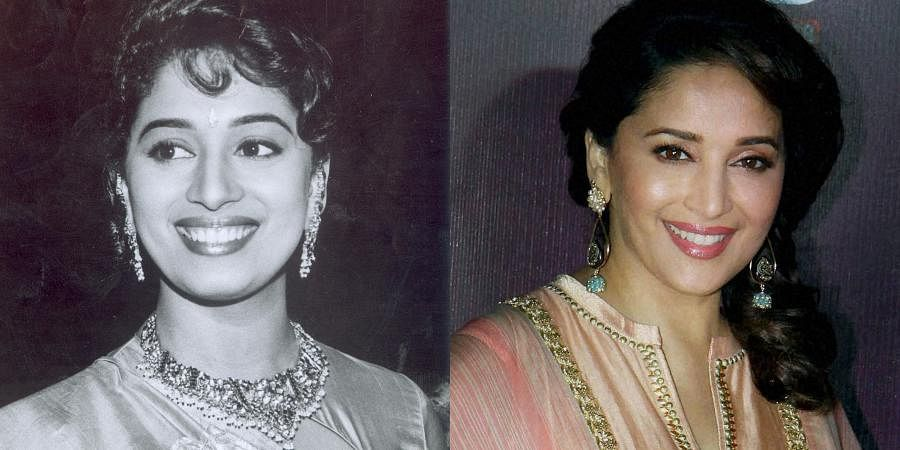 Bollywood actress Madhuri Dixit over the years.