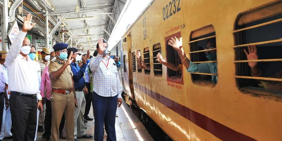 Special train ferrying stranded patients from Vellore left for Howrah in West Bengal