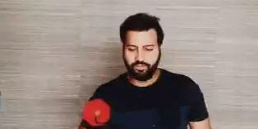 Rohit posted a video on his Twitter handle where the limited-overs vice-captain could be seen juggling the ball using the handle of his bat.