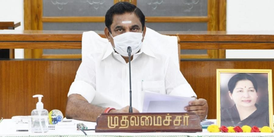 Tamil Nadu Chief Minister Edappadi Palaniswami holds a cabinet meeting in the state secretariat to review COVID-19 situation in the state