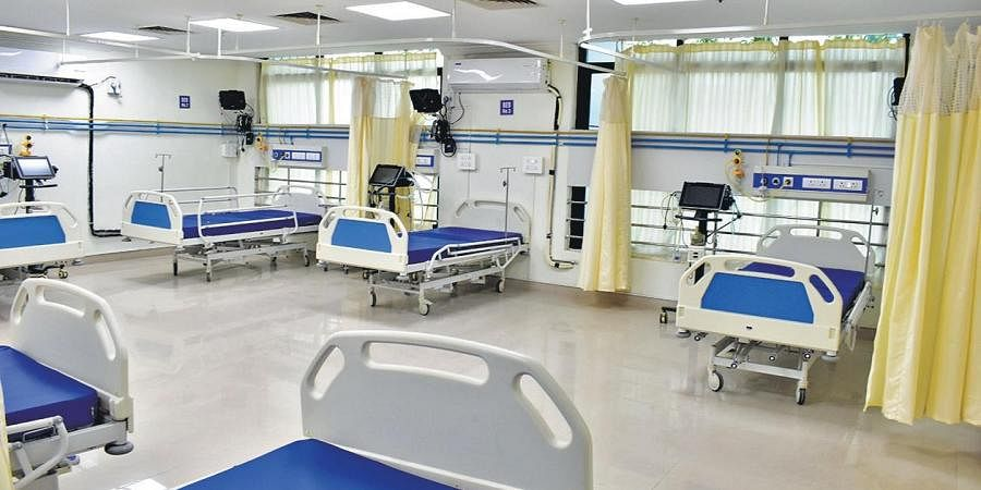 An ICU ward at the Centre for Covid-19.