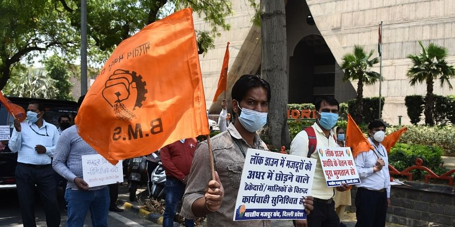 Bharatiya Mazdoor Sangh protests over 'dilution' of labour ...