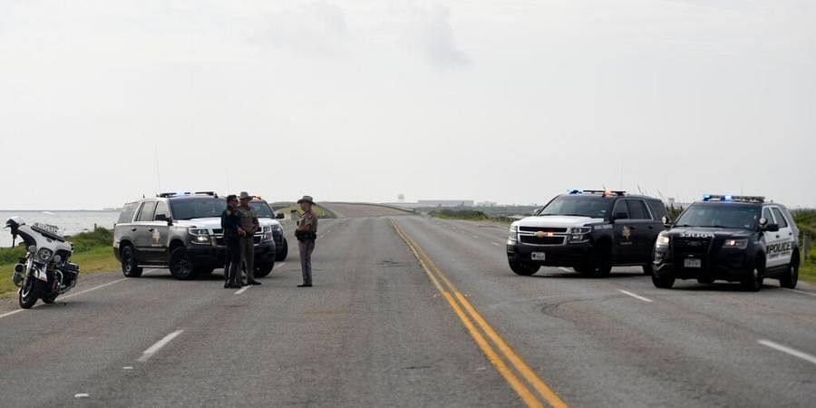 The entrances to the Naval Air Station-Corpus Christi are closed following an shooter threat.