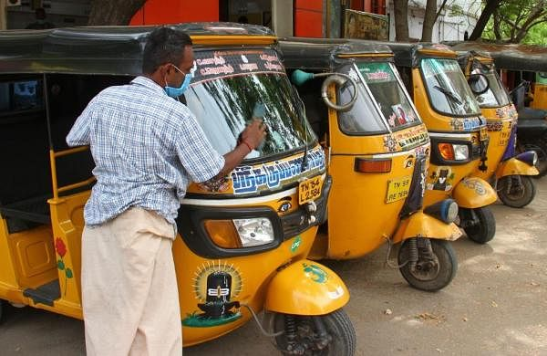 Autos allowed to ply across TN except Chennai from May 23, only one passenger allowed