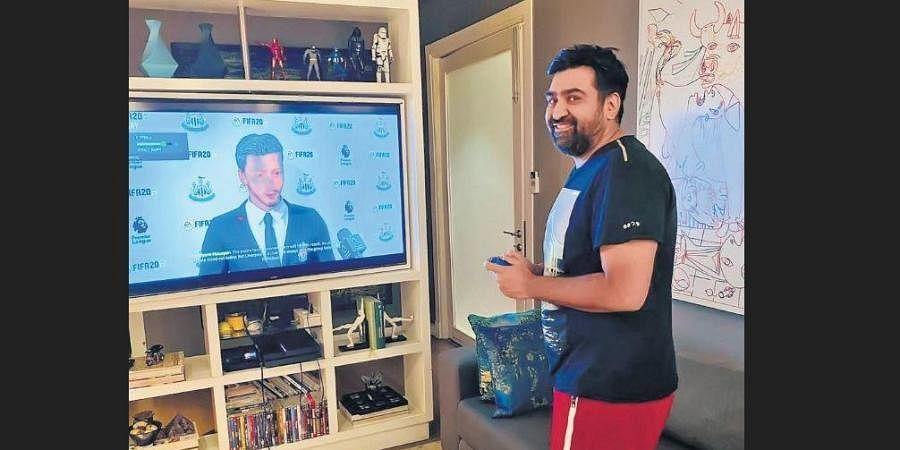 Priyank Sukhijay at his home during the lockdown.