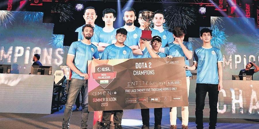 DOTA 2 champions of summer season ESL India Premiership 2019