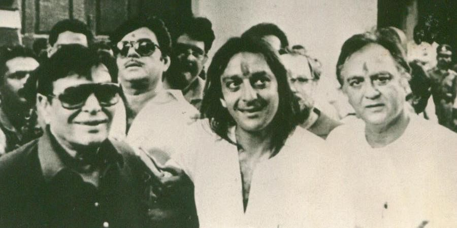Bollywood actor Sanjay Dutt with his father Sunil Dutt
