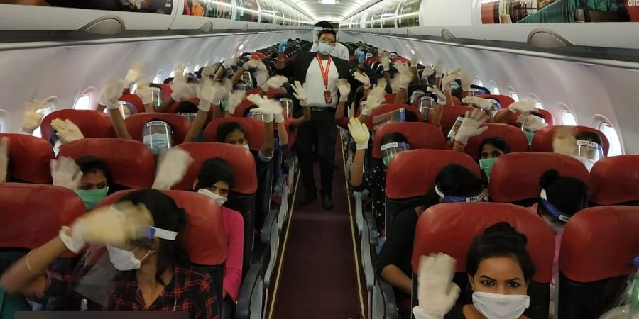 The migrant workers on the flight