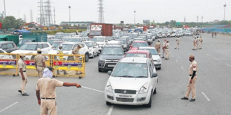 Long serpentine queues of vehicles were seen throughout the day at the Delhi-Gurugram border on Friday