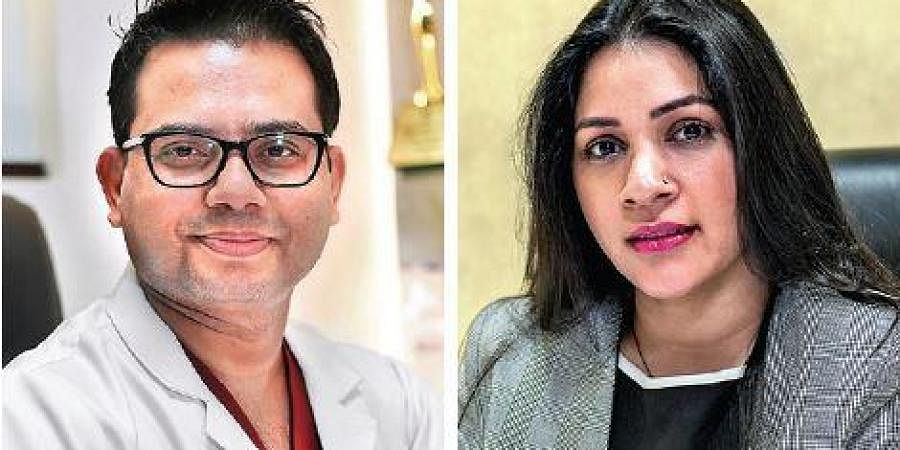 Dermatologist Dr BL Jangid and Lalita Arya, Vice-President, Dermapuritys