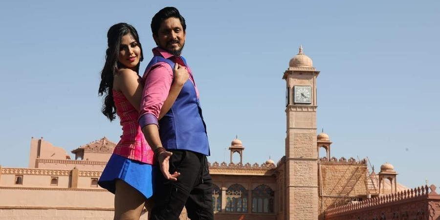 Sandalwood actors Ajay Rao and Apoorva in 'Krishna Talkies'.