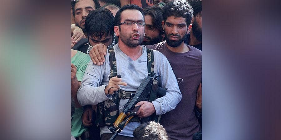 Commander-in-Chief of Hizbul Mujahideen Riyaz Naikoo. Naikoo was killed in an encounter with security forces at Beighpora area in Pulwama district of South Kashmir on Wednesday