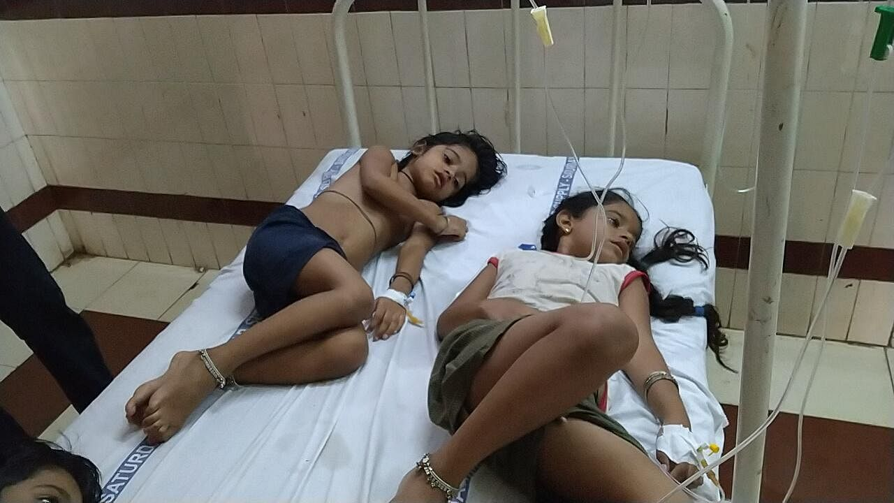 Affected children being treated at King George Hospital after the gas leak at LG Polymers plant near Visakhapatnam