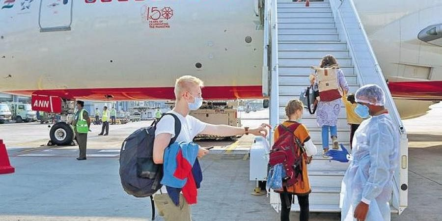 First flight carrying stranded Indians from Abu Dhabi lands at Kochi