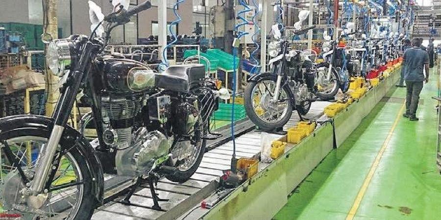 royal enfield resumes operation in chennai plant
