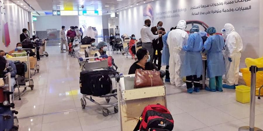 Indian nationals, all from Kerala are being brought back from Abu Dhabi under Vande Bharat Mission during coronavirus lockdown